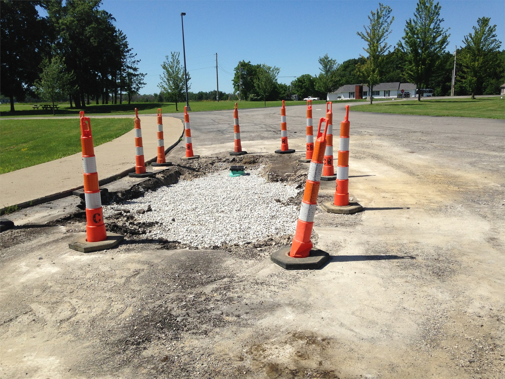 Additional Drains Added to BREC Parking lot
