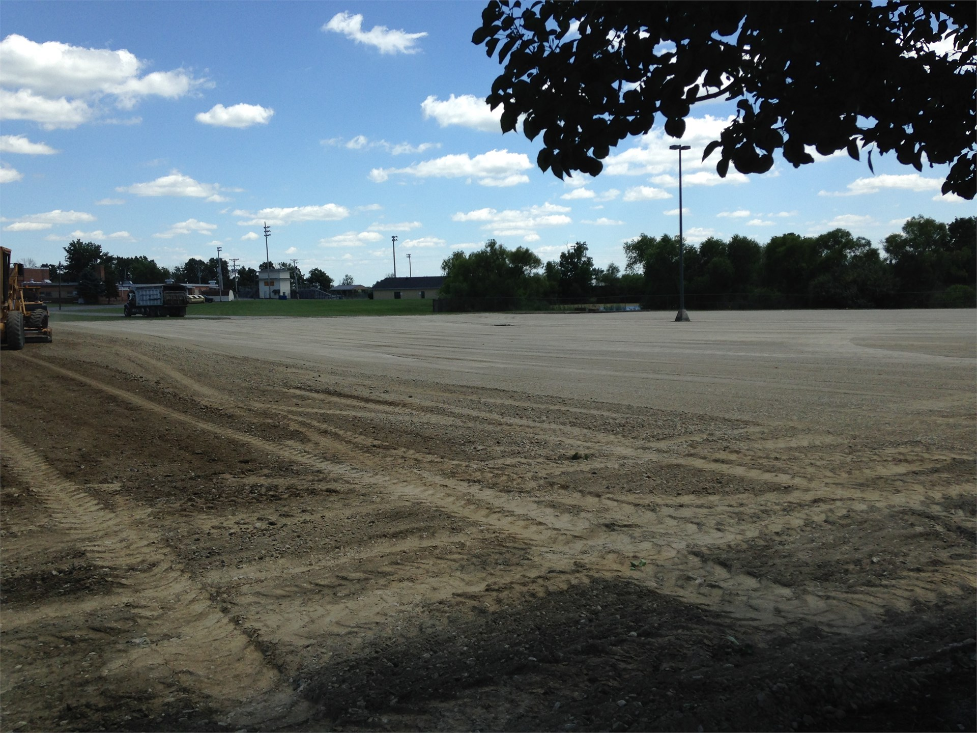 BREC Parking Lot as rolling is taking place