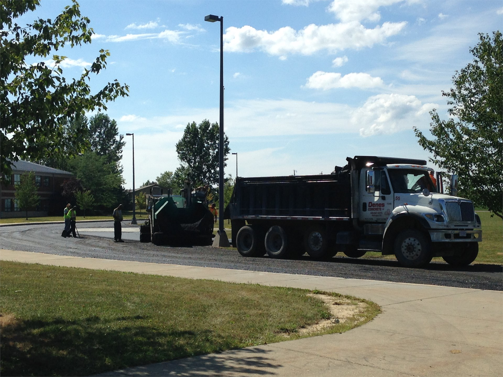 Applying Asphalt to the front drive of the BREC