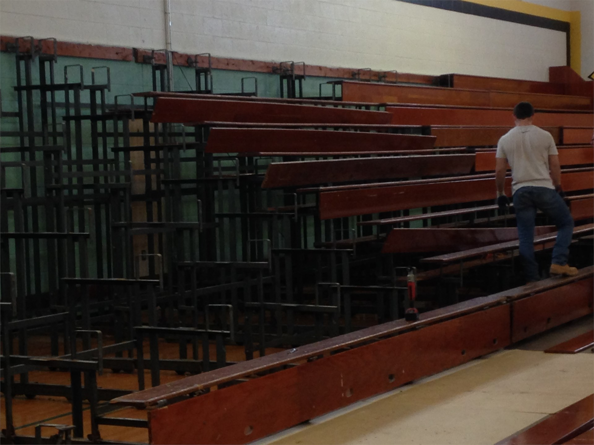 Removal of bleachers
