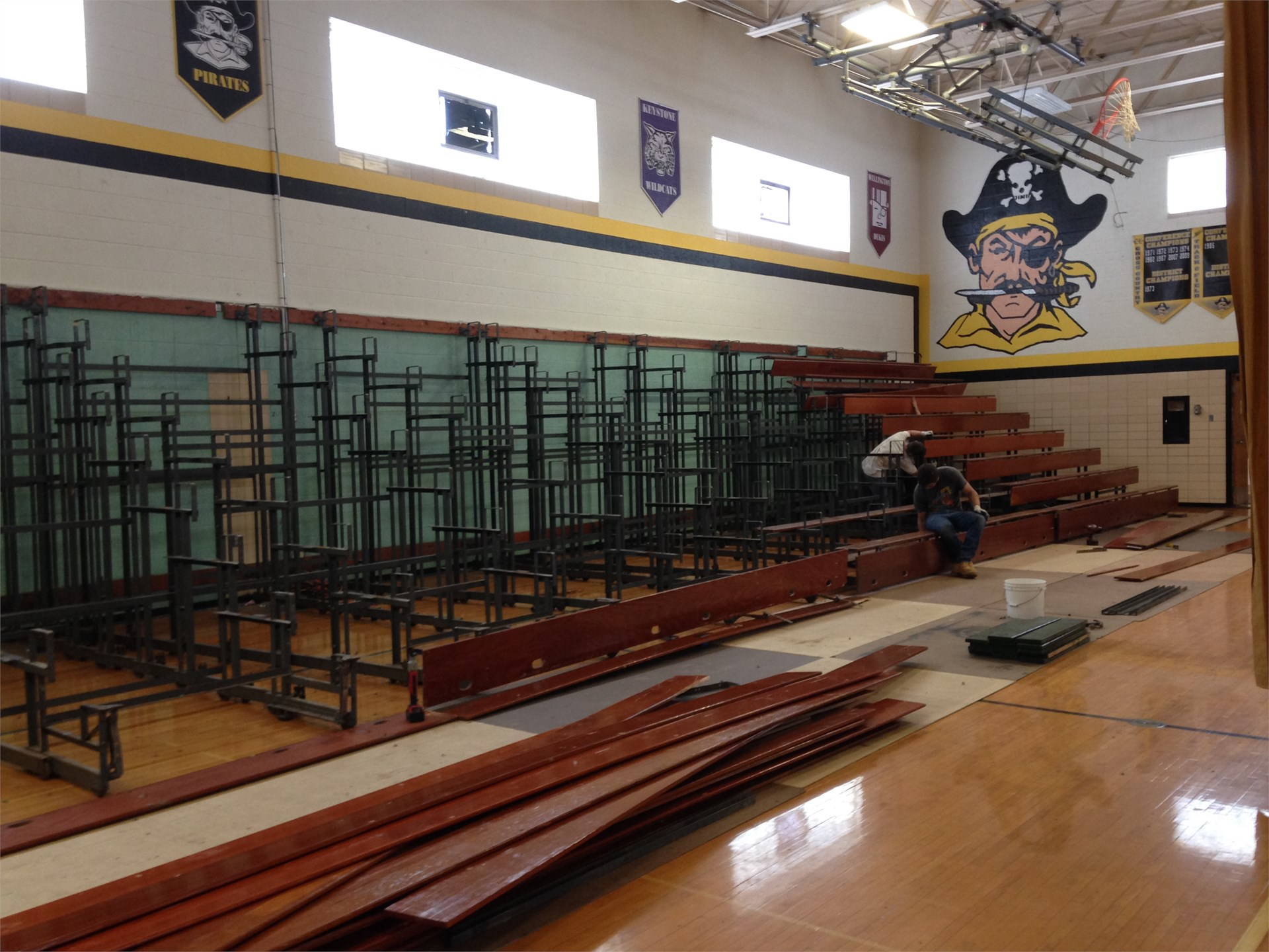 South Side Bleacher removal