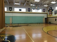 South Gym Side after bleachers are removed