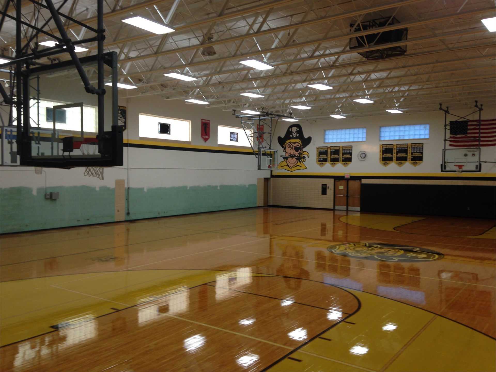 View of Gym before bleacher installation