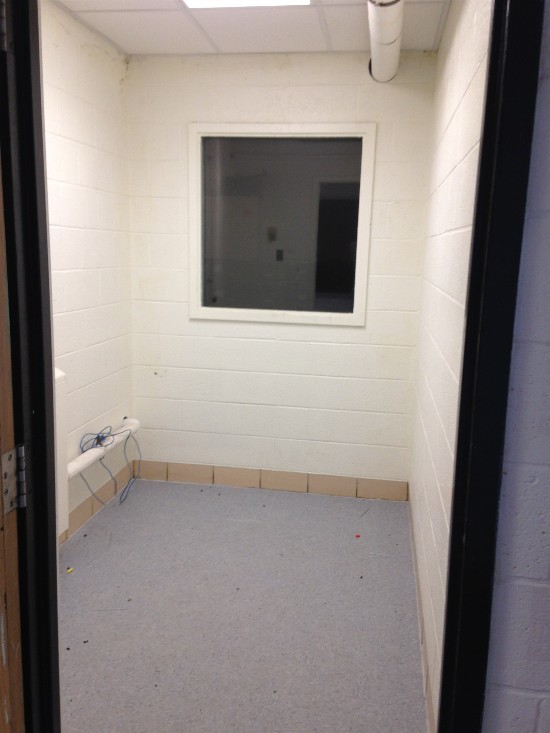 Band Practice rooms with new tile floor