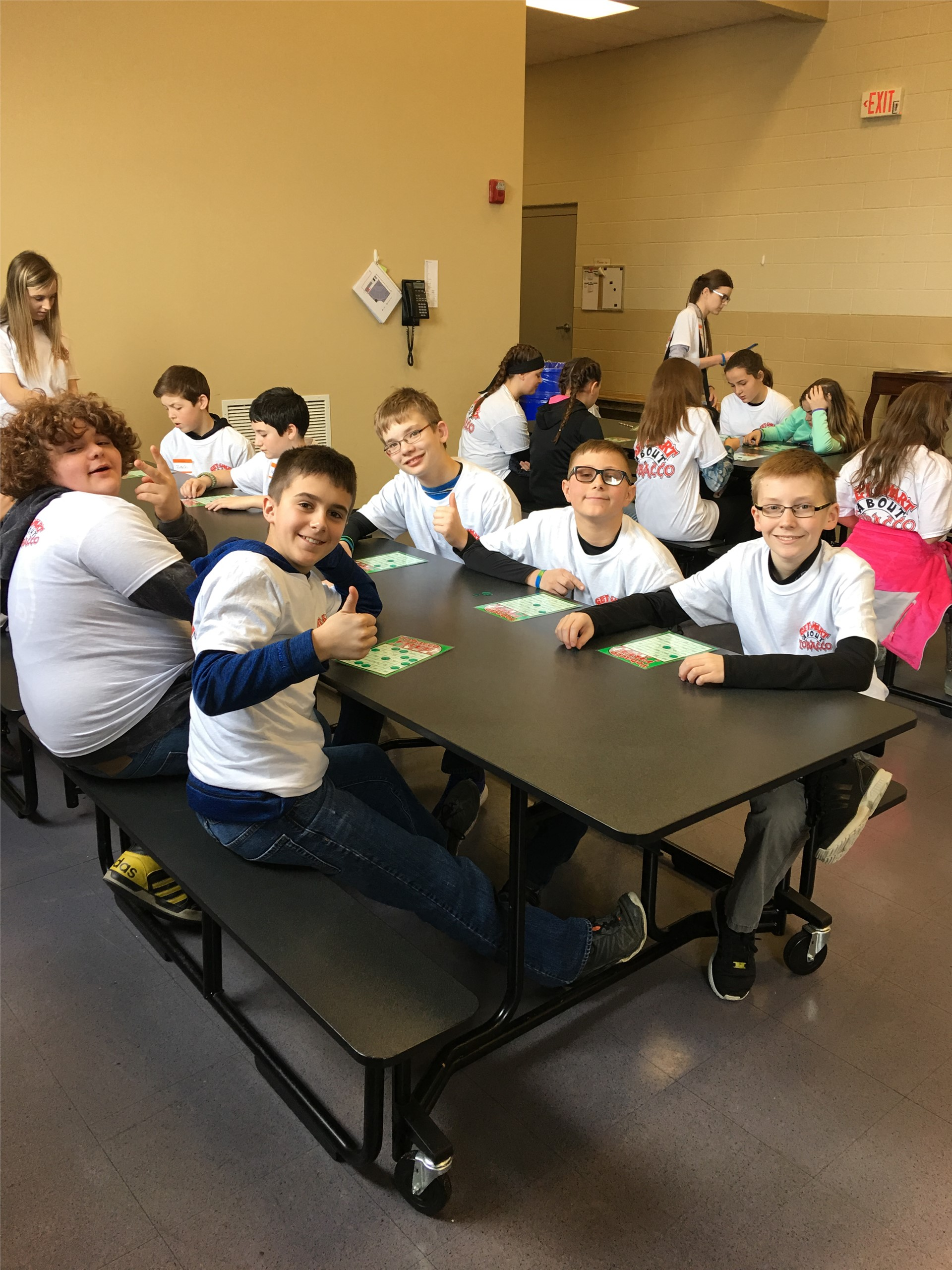 6th Graders on Get Smart about Tobacco field trip with Mrs. Schlauch
