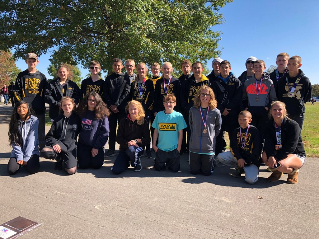 Black River Cross Country-Ms Boys 1st, MS Girls 2nd, both HS Boys and Girls were 3rd in LC8