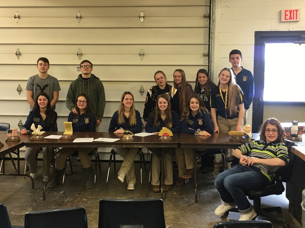 FFA March Monthly Meeting and Pie Bake-off