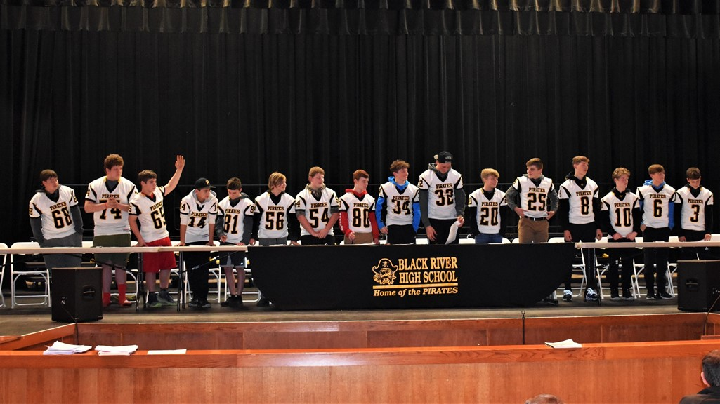 8th Grade Football Signing for High School Football