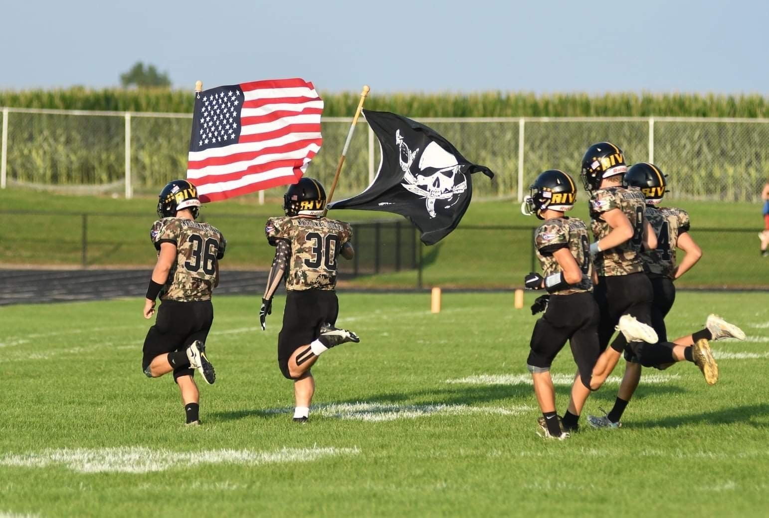 Coming onto the field